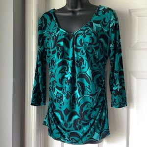 New York & Company 3/4 length sleeve blouse